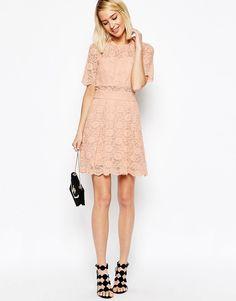 Image 4 ofASOS Lace Mini Prom Dress