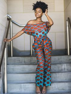 Casual Jumpsuit, Romper This Jumpsuit is hand crafted in Nigeria. We can Custom make if you give us your size chart and style. African Attire, African Wear, African Women, African Dress, African Style, African Jumpsuit, African Inspired Fashion, African Print Fashion, Fashion Prints