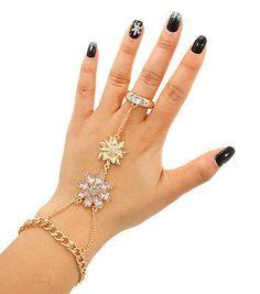 Flower Stone Hand Chain