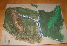 salt dough map: On the Trail with Lewis and Clark