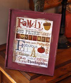 Thanksgiving Day Printable Subway art by KamisDigitalCreation