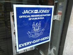 Jack Jones shop window, Dublin. Jack Jones, Dublin, Broadway Shows, Window, Hero, Shop, Books, Livros, Heroes