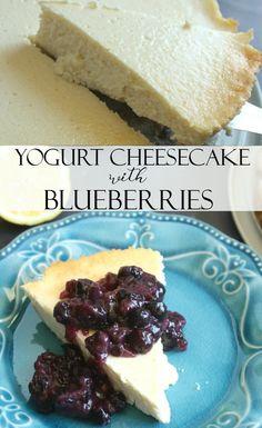 Yogurt Cheesecake with Blueberries #MomBlogTourFF [ad]