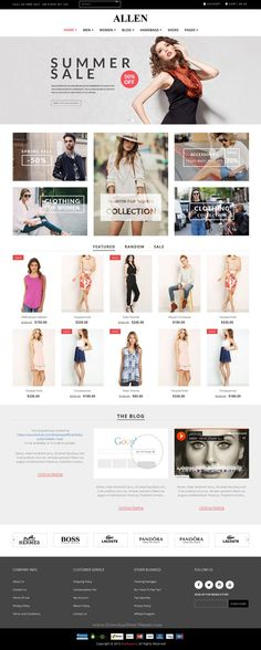 Allen is Responsive #Drupal Theme for Multipurpose eCommerce website with 16+ stunning homepage styles. #shopping #template Download Now!