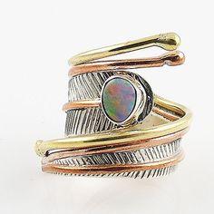 Australian Fire Opal Sterling Silver Adjustable Wrap Ring – Keja Designs Jewelry