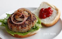 Turkey Burgers with Zucchini  Gina's Weight Watcher Recipes  Servings: 5 • Size: 1 burger no bun • Old Points: 3 pts (bun extra) • Points+: 4 pts  Calories: 156 • Fat: 6.8 g • Protein: 18.6 g • Carb: 5.5 g • Fiber: 1.3 g