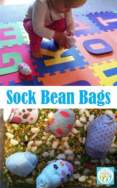 Growing Play: Sock Bean Bags from the Sensory Box