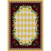 Our yellow version of the High Country Rooster rustic rug.  Made in America. http://www.rusticfurnituredecor.com/country-rugs-yellow-rooster-ad.html