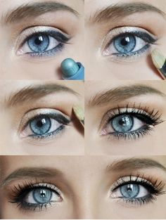 Eye popping makeup tutorial Perfect colour for cool blue eyes Warm blue is different.
