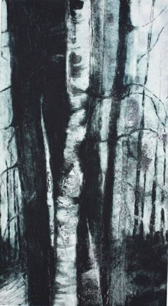 Carborundum Landscape Drawings, Abstract Drawings, Abstract Landscape, Abstract Art, Black And White Painting, White Art, Intaglio Printmaking, Gravure Illustration, Installation Art