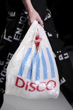 "Love this Ashish ""DISCO"" carrier bag - Spring 2014 - Details"