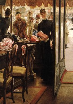 James Tissot: The Shop Girl, 1883–85. (Source: 1880s)