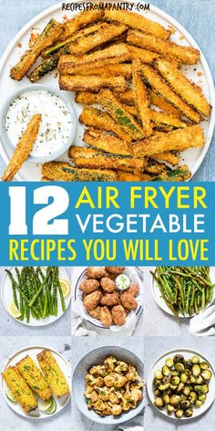 These Amazing Air Fryer Vegetable Recipes are tender in the middle and delightfully crunchy on the outside. Air Frier Recipes, Air Fryer Oven Recipes, Air Fryer Dinner Recipes, Healthy Dinner Recipes, Vegetarian Recipes, Cooking Recipes, Cooks Air Fryer, Instant Pot, Weight Watchers Meals