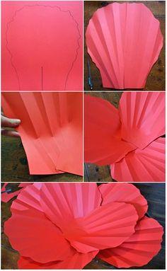 #Flor #Papel #Papoula #Gigante #DIY