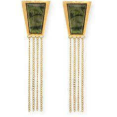Stephanie Kantis Green Agate Impose Earrings f5MU5i3PF