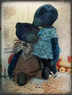 Купить Мишка тедди. Мальчик. - темно-синий, мишка тедди, мишка девочка, мишка в одежке