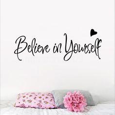 £1.07 GBP - Believe In Yourself Inspirational Vinyl Wall Sticker Home Decor Letter Art Decal #ebay #Home & Garden