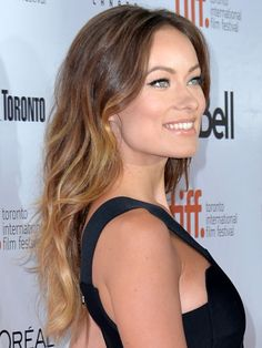 Olivia Wilde beachy Ombre waves #hair #TIFF2013 http://beautyeditor.ca/2013/09/09/olivia-wilde-rush-premiere-makeup/