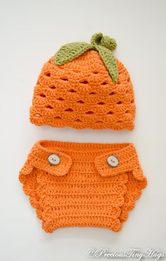 Baby Diaper Cover Set , Crochet Diaper Cover Set, Diaper Cover and Hat Set…