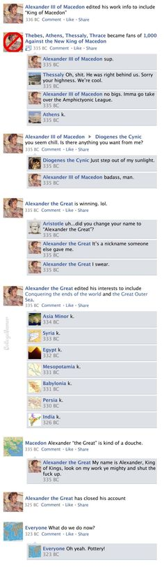 Facebook News Feed History of the World part 4
