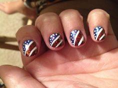 July 4th nails :)))