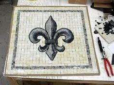 Fleur De Lis Mosaic Makes Me Think Of Nola Handcrafted Pinterest Mosaics Craft And Diy Projects