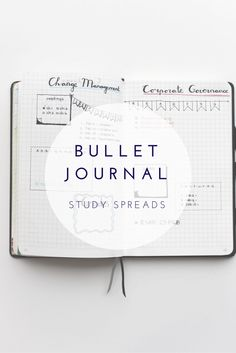 Organise your studies with these Bullet Journal spreads.