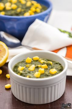 Healthy and easy Spinach Corn Curry. Serve it with rice or any bread of your choice.