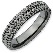 My Lucky Charm Silver Stackable Black Ring. Sizes 5-10 Available Jewelry Pot. $26.99. All Genuine Diamonds, Gemstones, Materials, and Precious Metals. Your item will be shipped the same or next weekday!. Fabulous Promotions and Discounts!. 30 Day Money Back Guarantee. 100% Satisfaction Guarantee. Questions? Call 866-923-4446. Save 63% Off!
