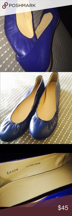 J• CREW made in Italy Cobalt blue flats J• CREW made in Italy Cobalt blue flats So very very soft Italian leather Like New condition the marked size is a 10 I listed as a 9.5 because the fit is just as a 9.5 . Thanks for looking bundle and save. 2-30% off J. Crew Shoes Flats & Loafers