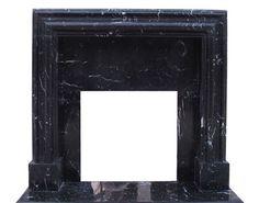 Modern Black Marble Deco Fireplace by Artisan Kraft manufacturer Black Fireplace Mantels, Marble Fireplace Mantel, Fireplace Mantel Surrounds, Stone Fireplace Mantel, Fireplace Remodel, Marble Fireplaces, Contemporary Fireplace Designs, Modern Contemporary, Floating Mantel