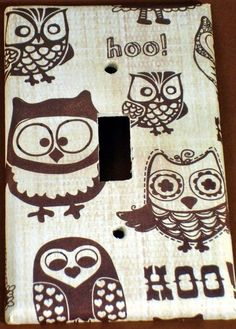 Light Switch Cover Single Switchplate by funkychickendesign