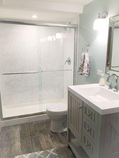 Change the shower into European version #bathroomthemesideas
