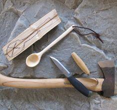 How to Carve a BushCraft Wooden Spoon: Step by Step - pas à pas pour apprendre à creuser une cuillère en bois DIY