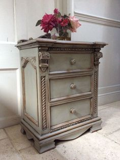 large cream chest of drawers french vintage shabby bedroom