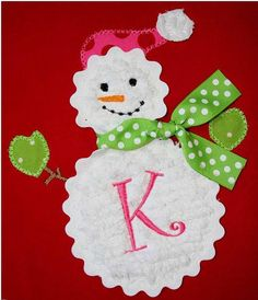 Snowman Machine Embroidery Applique Design by AppliqueBebe on Etsy, $4.00