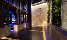 Hakkasan Night Club and Lounge at the MGM Grand in Las Vegas using our Too Close To Call collection as a wall covering.