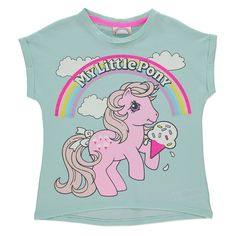 Girls Official Vintage Style My Little Pony Ice Cream Printed Summer T Shirt