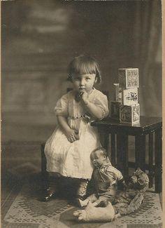 Vintage photo of a little girl - Lauren Jaeger Mikalov, via Flickr