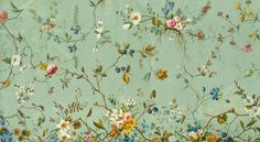 Design by William Kilburn, British botanist.  He inspired for the floral jacquard patterns in the AW14 collection.
