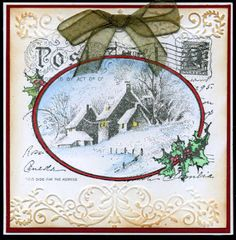 night time stamping: snowy postcard