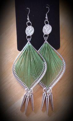 GREEN  Thread Earrings by SoSweetSoSassy on Etsy, $16.00