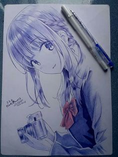 Does anyone know this artist? awesome anime arts in 2019 эск Anime Drawings Sketches, Anime Sketch, Cartoon Drawings, Cartoon Art, Cute Drawings, Pencil Drawings, Cartoon Girl Drawing, Manga Drawing, Manga Art