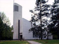 Kannonkosken kirkko. Kuva: MV/RHO/124910:2 Martti Jokinen 1998 Grave Monuments, Something Else, Graveyards, Place Of Worship, Kirchen, Cathedrals, Finland, Skyscraper, Modern