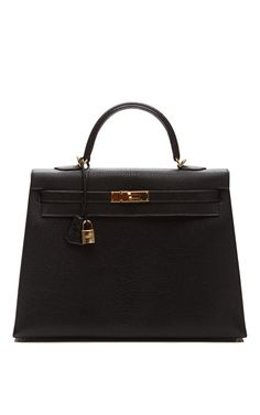 Shop 35Cm Black Chevre Leather Kelly by Heritage Auctions Special Collections for Preorder on Moda Operandi
