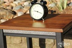 #PotteryBarn inspired industrial side table makeover  http://www.highstylerestyle.com #highstylerestyle