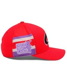 adidas Carolina Hurricanes Hockey Fights Cancer Stretch Cap - Red L/XL
