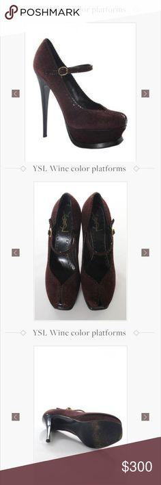 YSL platforms YSL wine platform Yves Saint Laurent Shoes