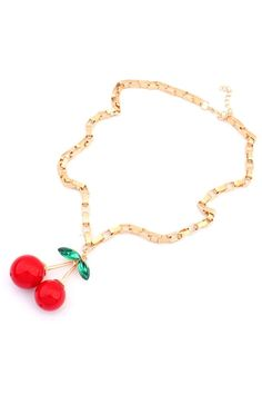 Street-chic Cherry Necklace
