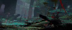Jungle Scene 3 - Guild Wars 2: Heart of Thorns, Theo Prins on ArtStation at https://www.artstation.com/artwork/3b8Qg